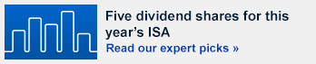 Five dividend shares for this year's ISA
