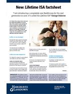 Lifetime ISA factsheet
