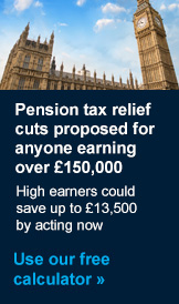 Pension tax relief cut calculator