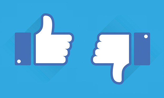 Thumbs down. Facebook's stock drop