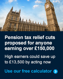 Pension tax relief cut calculator