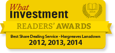 Voted Best Share Dealing Service 3 years running