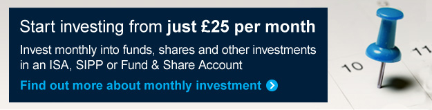 Invest from just £25 per month