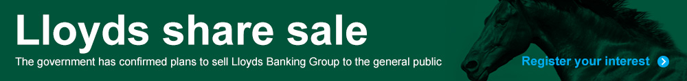 Register your interest in the Lloyds share sale