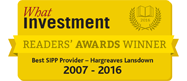 Best SIPP Provider What Investment 2007 - 20016