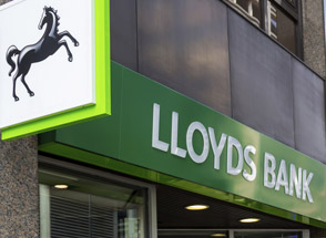 Shares up strongly as Lloyds marches on