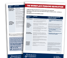 Workplace Pensions Revolution - Factsheet for Employers