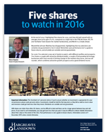 Five shares for 2016