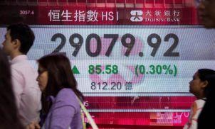 Asian shares fall despite strong Wall Street; dollar near 22-mth high